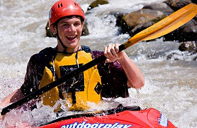 beginning kayak whitewater