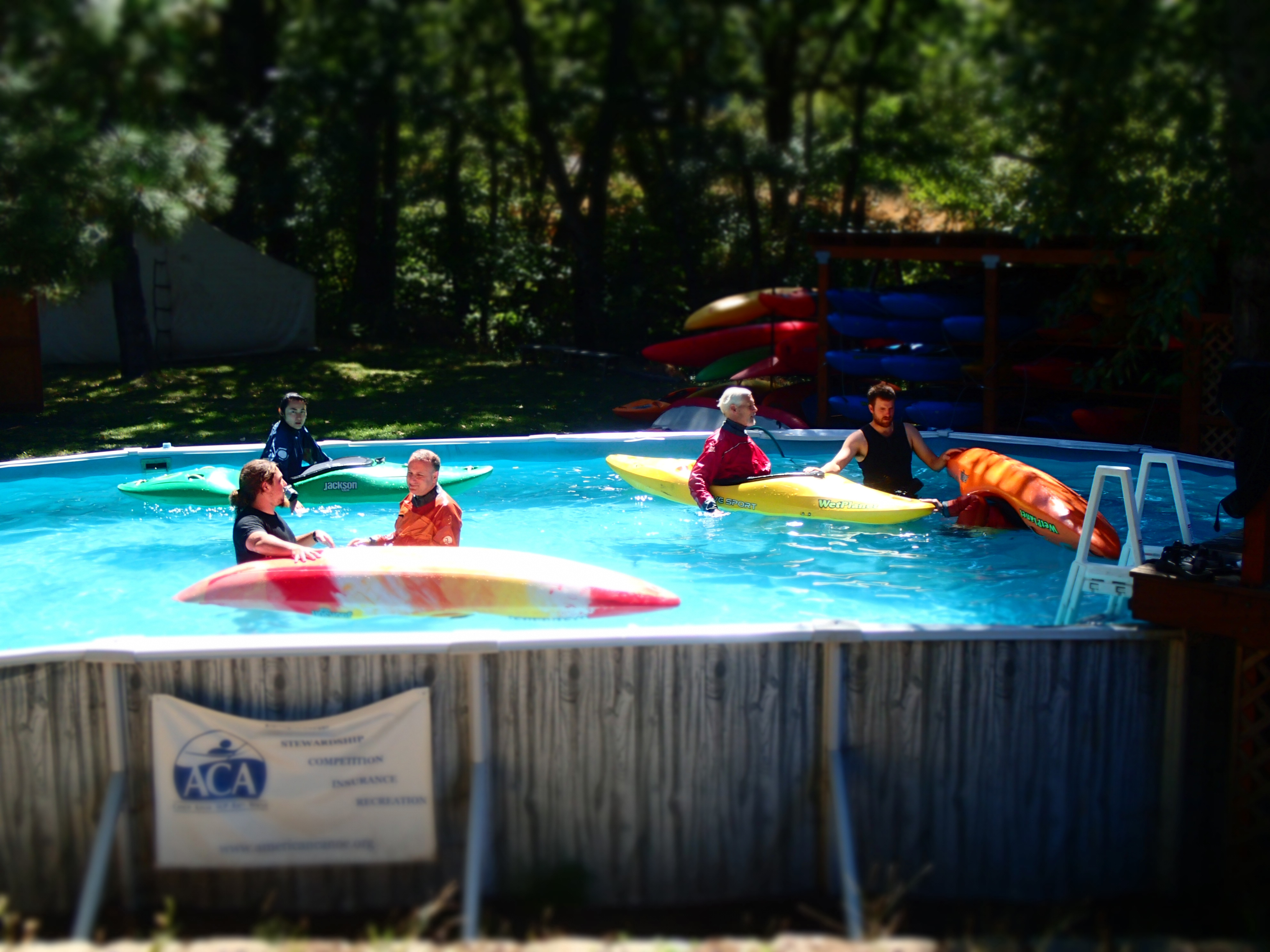 Kayak pool classes with wet planet whitewater for Hood river swimming pool hours