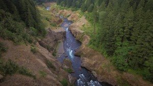 A view from above of The Narrows section of the White Salmon River. Photo: Brendan Wells