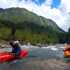 Dave leading the charge on the Pungwe Gorge