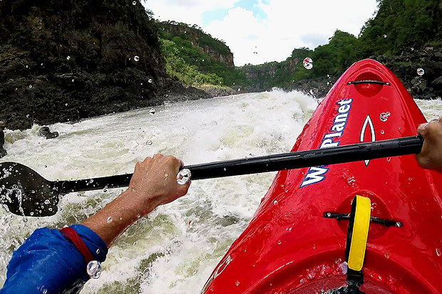Kayaking the Zambezi - Rapid Number 5