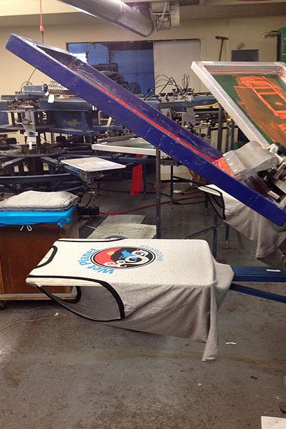 Columbia Graphics printing whitewater clothing