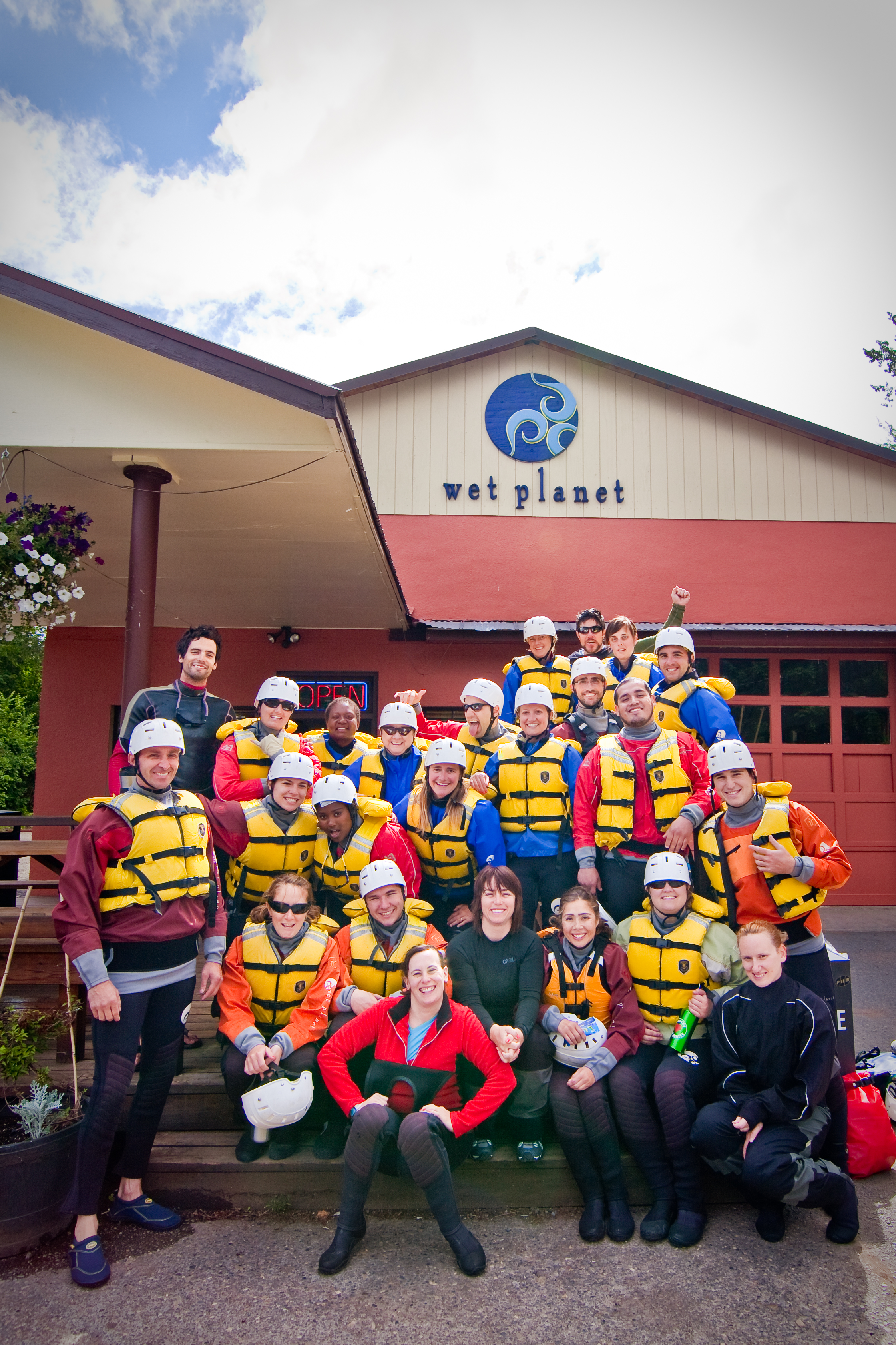First Descent ready for a day of rafting on the White Salmon River