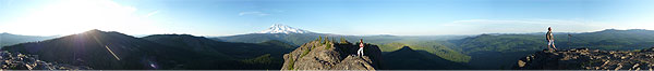 Sleeping Beauty hike with views of Mt Adams, Mt Hood, Mount St Helens and Rainier