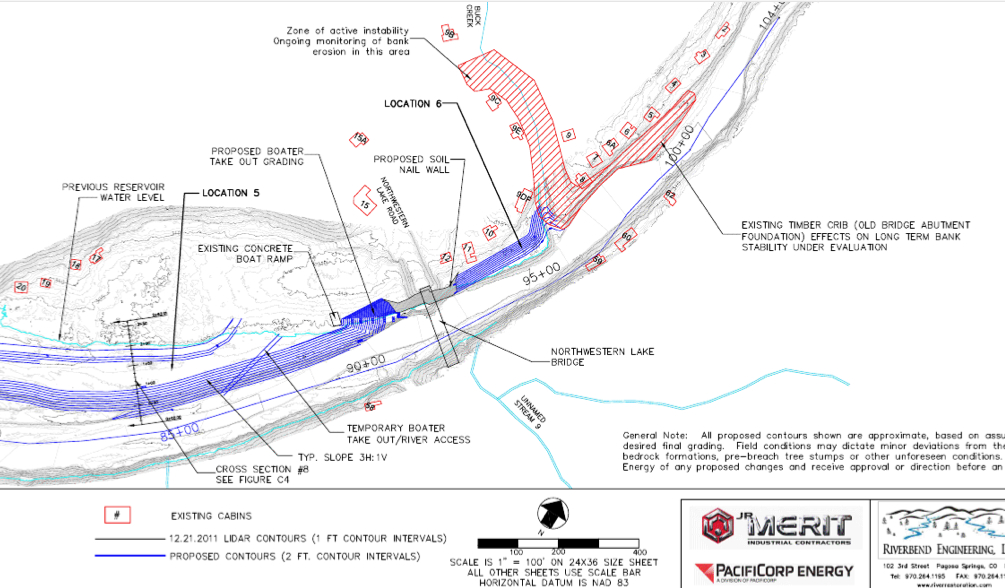 A closer look at the plans for a boater take-out at Northwestern Lake Park.  Source: 120 Day Dewatering Assessment Report