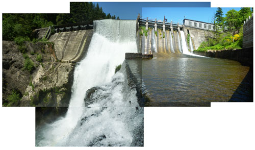 Patchwork Condit Dam Photo, 2nd largest hydropower removal project ever