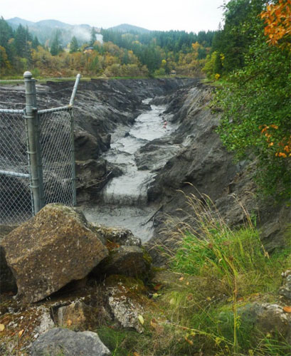 What used to be Northwestern Lake is now a Free Flowing White Salmon River