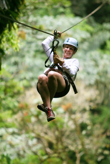 Zip through the canopy with Wet Planet Costa Rica 2012 trip!