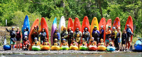 First Descents kayak camp crew with Wet Planet, 2011
