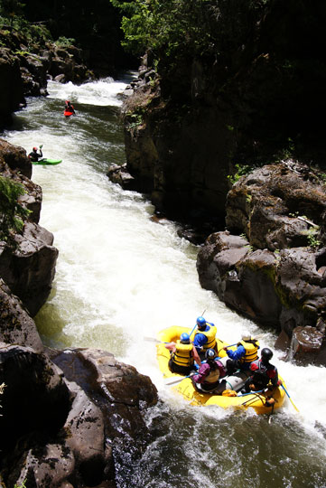 More whitewater opens up during low water years for whitewater rafting on the White Salmon River.