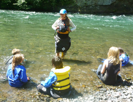 Heather Herbeck teaches Wet Planet's Kids Clinic every summer