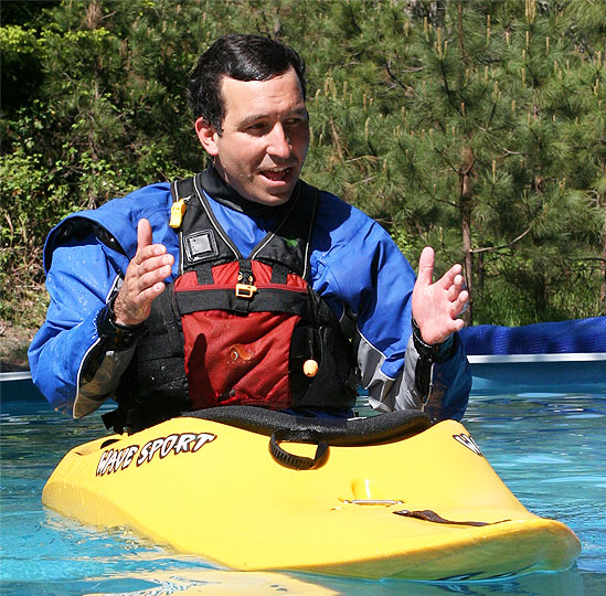 Sam Drevo teaches Wet Planet 2011 kayak instructor program