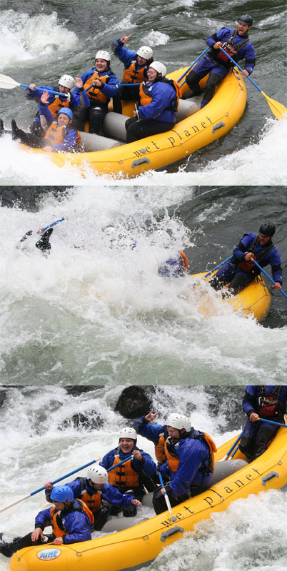 Lance takes students from Hood River High School down the White Salmon River