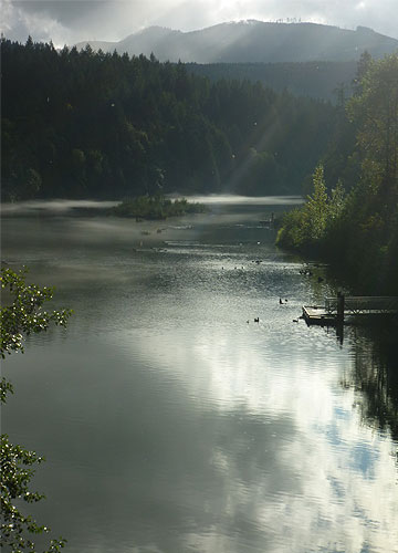 Northwestern Lake, hoping to transform into White Salmon River come October 2011