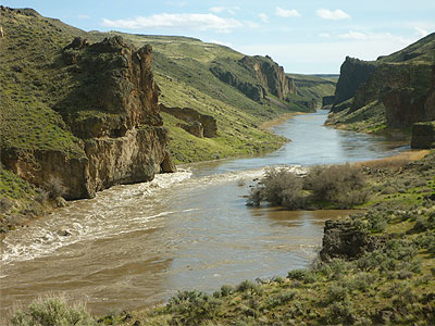 Whistling Bird Rapid at roughly 15,000 cfs, Owyhee River, Oregon