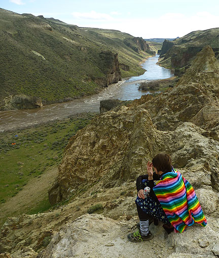 The Rainbow Cape makes an appearance on the spectacular Owyhee River, southern Oregon.