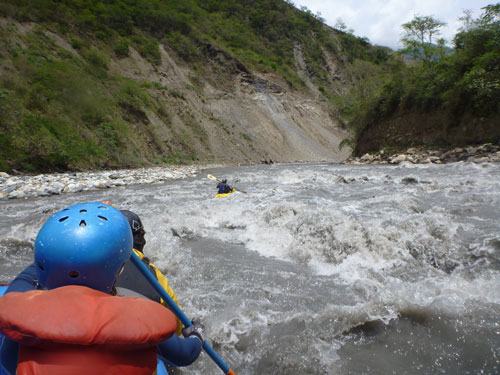 Rafting on Peru's Urubamba River near Machu Picchu