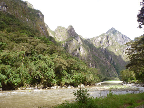 The Apurimac River, the source of the great Amazon in Peru