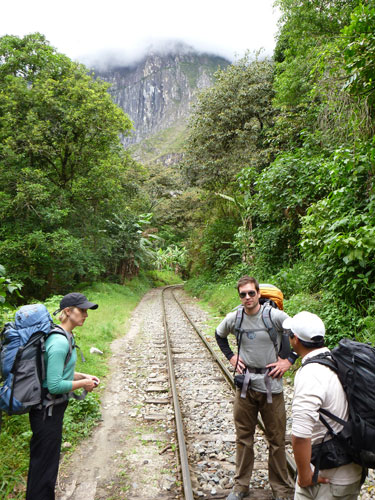 A hike to the town at the base of Machu Picchu, Aguas Calientes