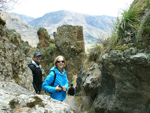 Hiking high in the Andes Mountains