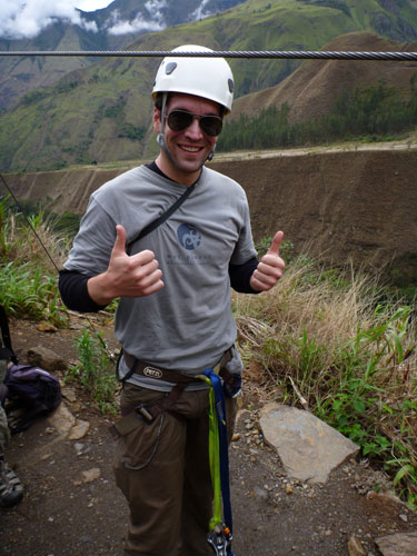 Zip lining at Cola de Mono near Machu Picchu