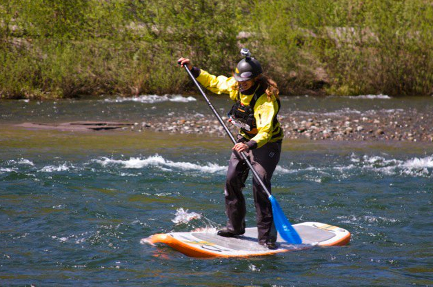 Heather Herbeck gets out on the SUP at the Sandy River Showdown, 2011