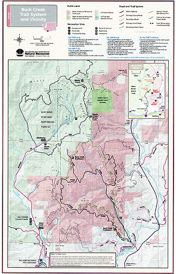 Buck Creek Trail map, Department of Natural Resources