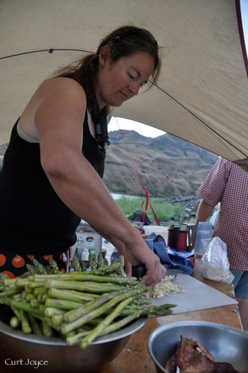 Incredible meals prepared for you at each campsite along the Lower Salmon River kayak trip!