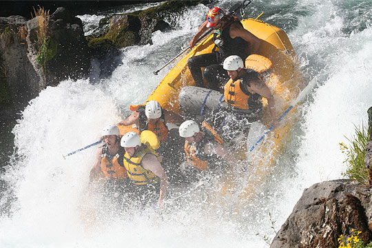 US Soldiers conquering Husum Falls with Wet Planet on White Salmon River