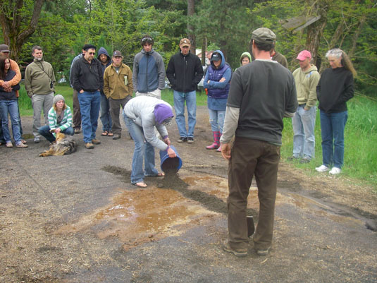 Todd Collins & Nicki Lynch create Cascades at White Salmon Symposium 2010