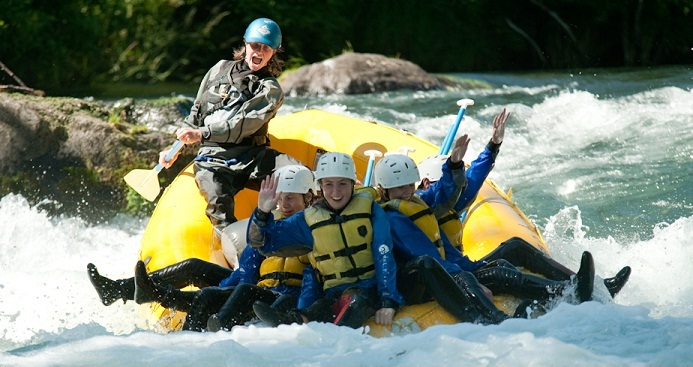 Rafting on the White Salmon River, Washington