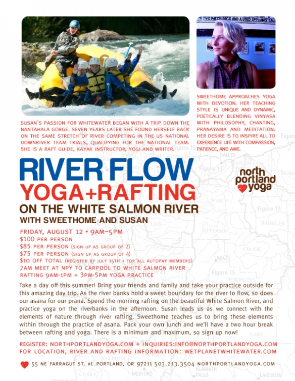 Yoga and Rafting with North Portland Yoga and Wet Planet Whitewater
