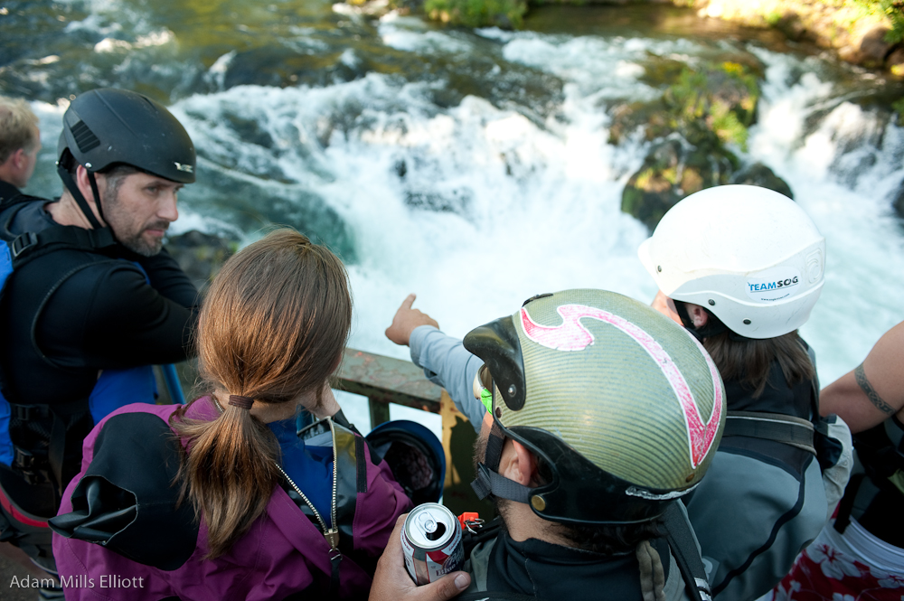 Taking a Look at the Line, Husum Falls, Washington
