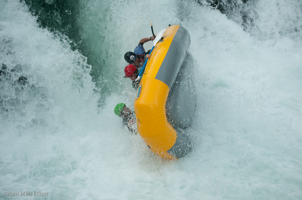 Another Flip on the White Salmon River, Husum Waterfall