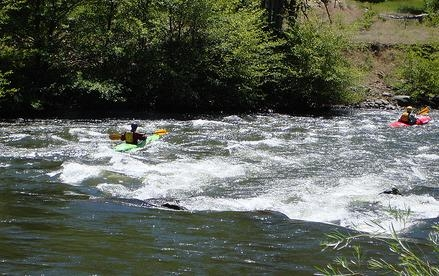 Beginner Wet Planet Kayaking Students July 2 and 3rd, 2010, on Klickitat River, WA