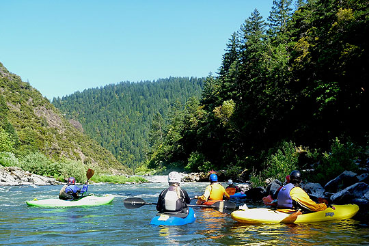 Kayaking on the Rogue River