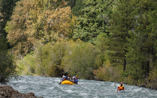 Fall on the Tieton River in Washington