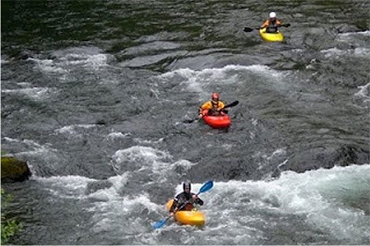 Whitewater kayaking for beginners