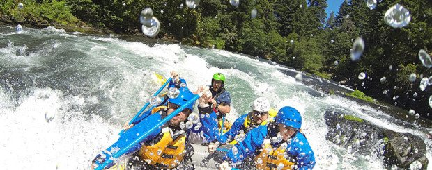Washington river rafting and oregon whitewater rafting on the White Salmon River