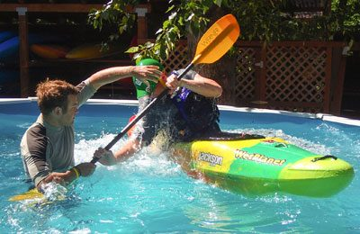 private pool sessions for kayak instruction