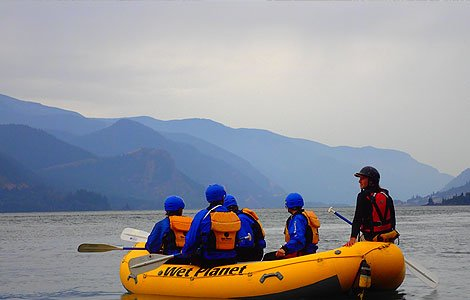 White water rafting and kayaking Columbia River