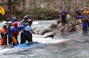 river rescue course for kayakers