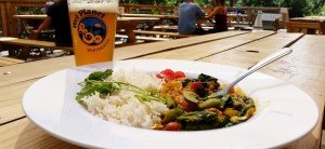 Jaco's Vegetable Coconut Curry at Wet Planet Cafe & Grill
