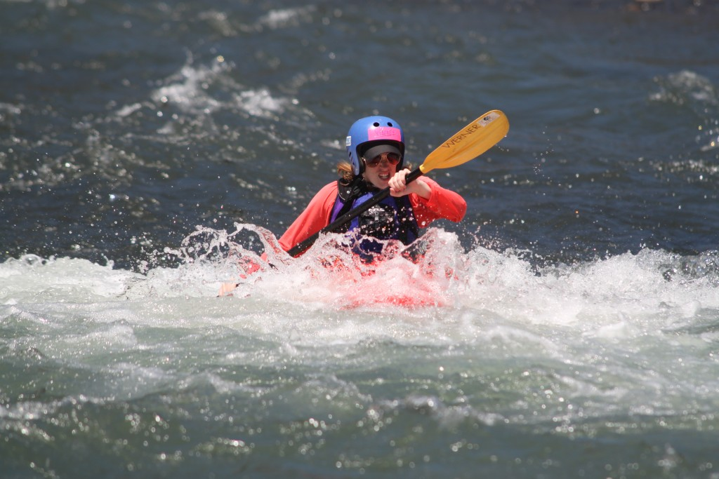 First Descents participant, Vinny, at Graduation Rapid on the Klickitat River