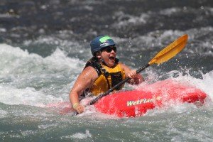 First Descents participant, Shuffle, at Graduation Rapid on the Klickitat River