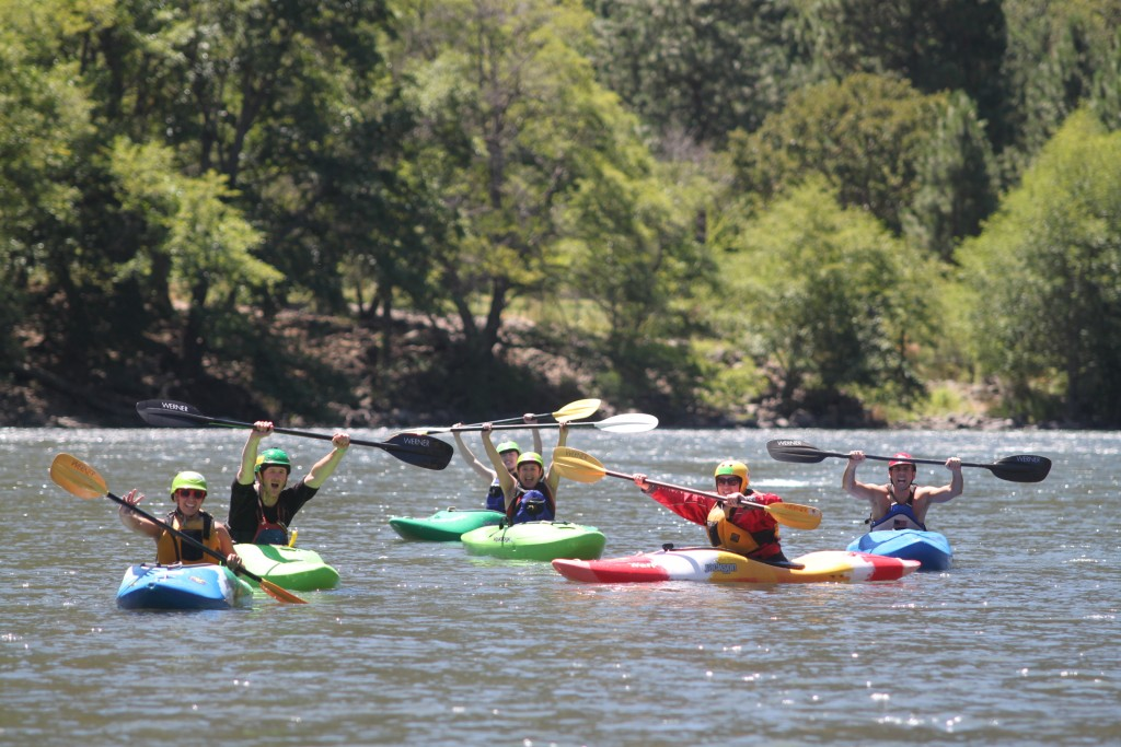 First Descents Paddlers on the Klickitat River