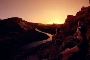 Sunset over the Owyhee River Canyon