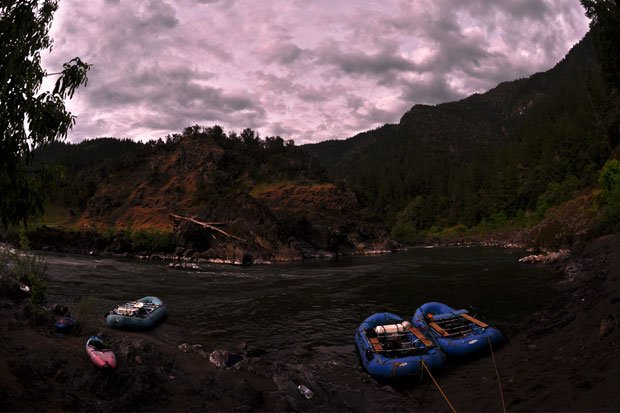 Early morning light in the Rogue River canyon