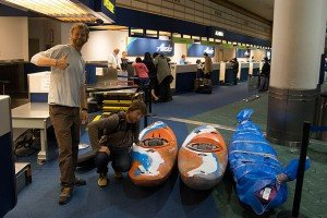 traveling with whitewater kayaks