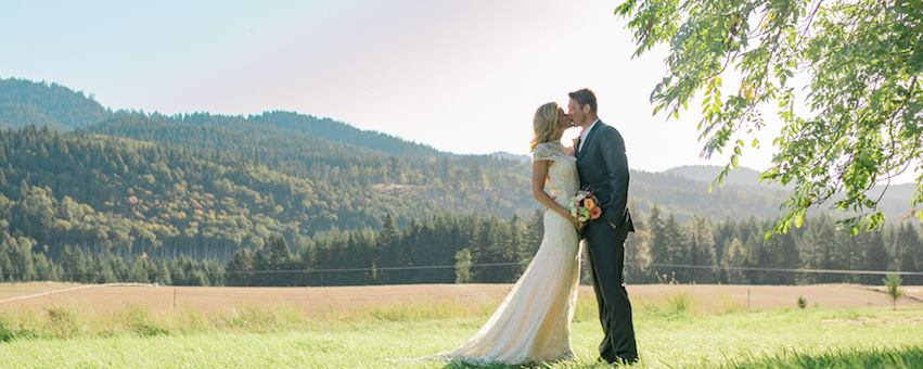 The perfect wedding location in the Columbia River Gorge! Photo from The Tin Roof Barn